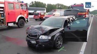 Schwerer Unfall auf der A2