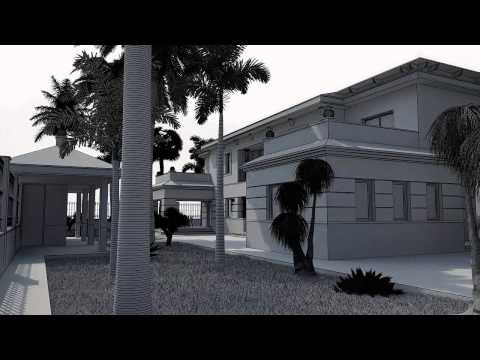 3d Architectural Animation. 3d House. Architect. Design of Housing.