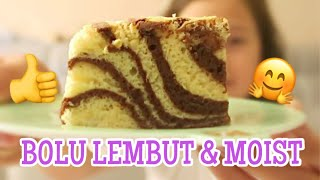 KUE MARMER MOTIF ZEBRA    BOLU PANGGANG LEMBUT MOIST