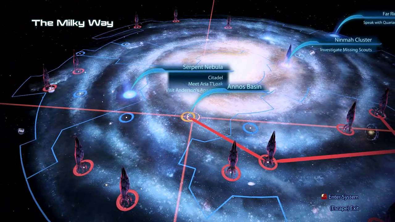 Mass Effect Star Map.Mass Effect 3 Vanguard Walkthrough Playthrough Part 49 Literally A