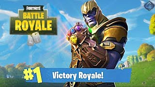 Fortnite: Battle Royale - MY FIRST WIN AS THANOS!