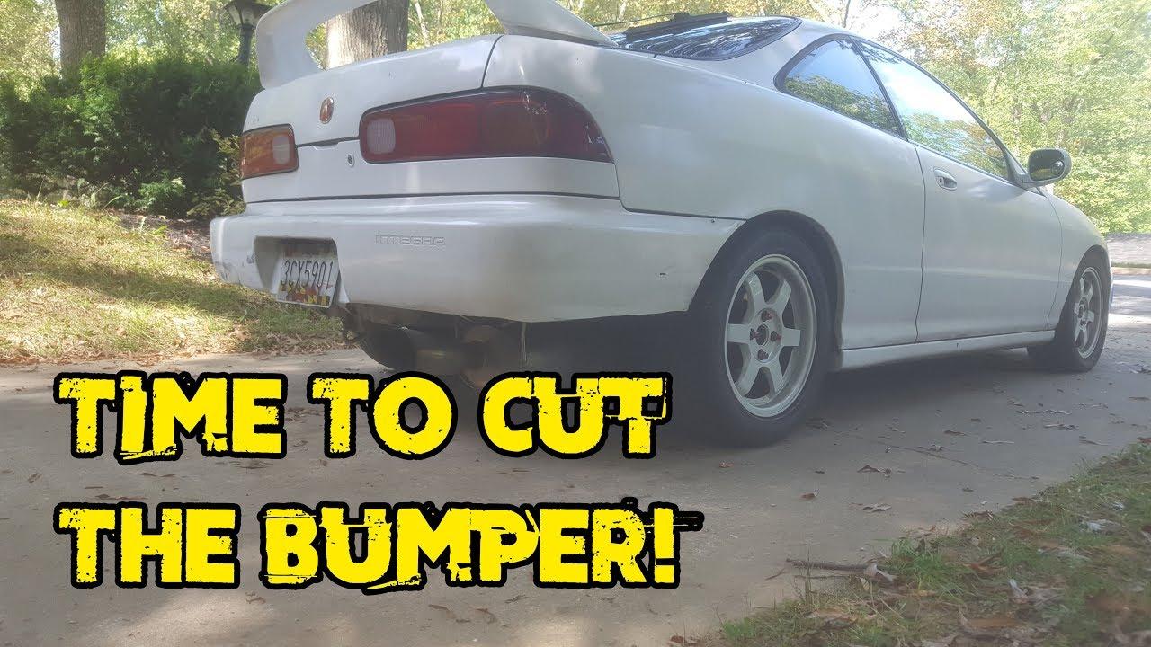Project Integra Rear Bumper Cut DIY YouTube - Acura integra rear bumper