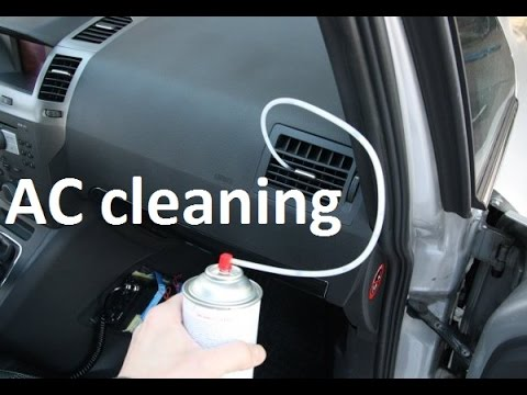How to clean, treat Air Conditioning on a car with cleaning foam. How to fix smelly AC