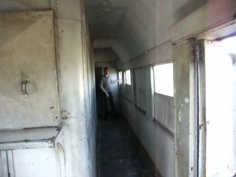 Albanian passenger wagon on Durres - Skhodra train / Albán személykocsi egy Durres - Skhodra vonaton