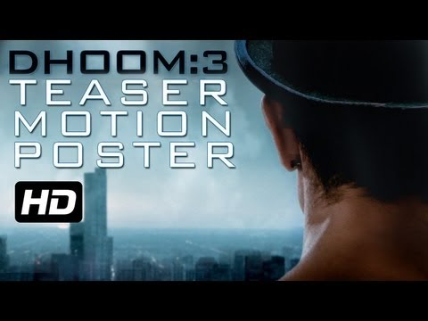 DHOOM:3 - Teaser Motion Poster   Aamir Khan   Abhishek Bachchan   Katrina Kaif   Uday Chopra