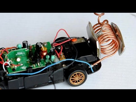 free energy generator powering an RC-car