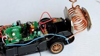 free energy generator powering an RC-car