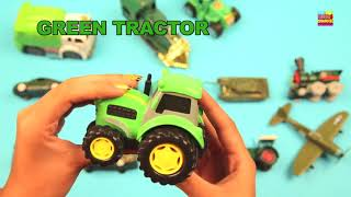 Learn Green Vehicles | Learning Video | Kids Toy Cars & Trucks