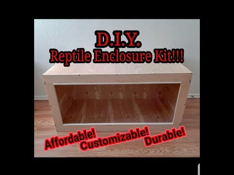 D.I.Y. Reptile Enclosure Kit!!!!!!!!!!