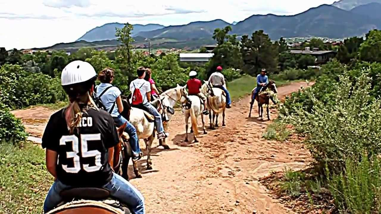 Garden Of The Gods Horseback Riding Youtube