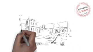 Как нарисовать трамвай карандашом поэтапно
