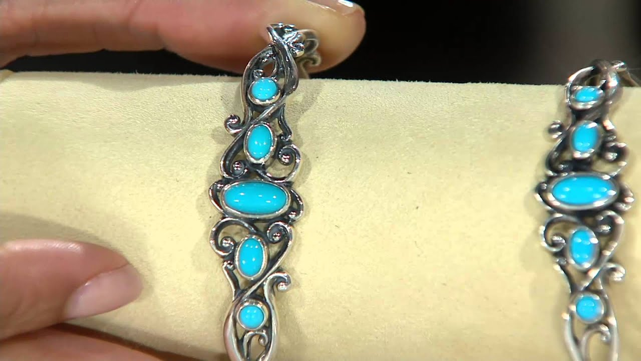 Carolyn Pollack Sleeping Beauty Turquoise Sterling Cuff Bracelet On Qvc