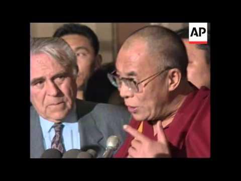 USA : DALAI LAMA TAKES TIBET SELF RULE CAUSE TO WASHINGTON