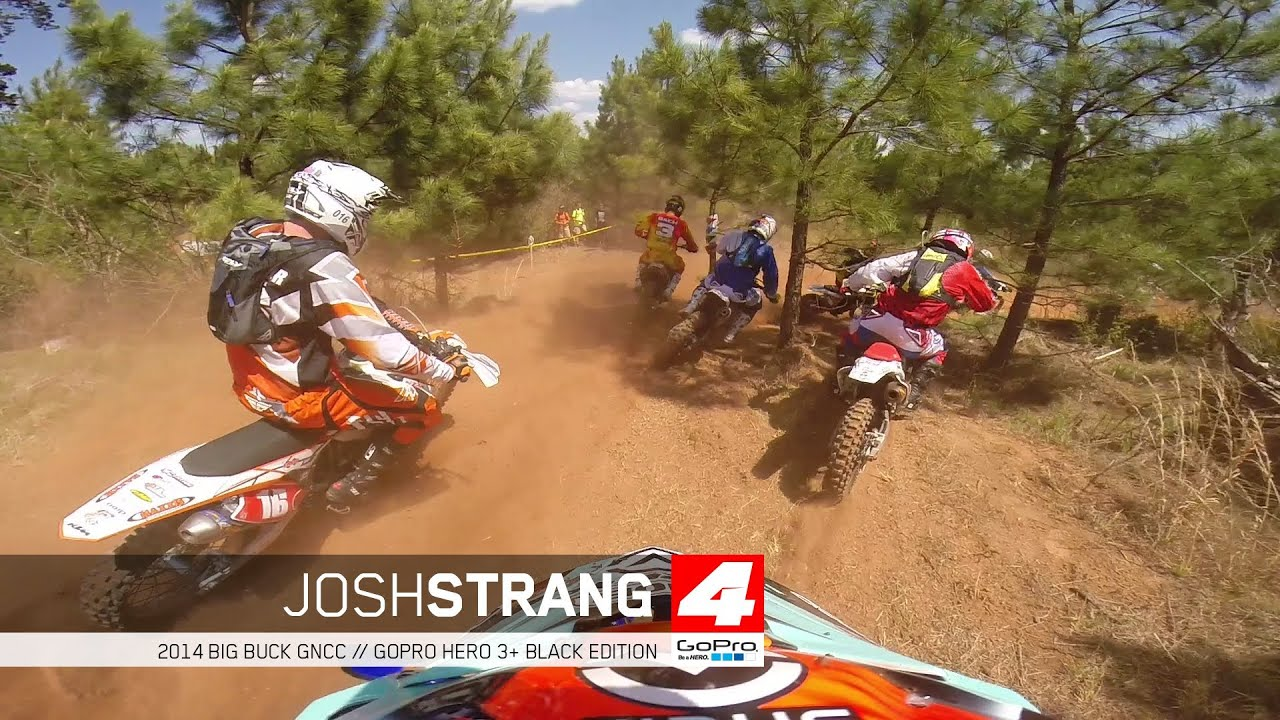 gopro hero 3 josh strang big buck gncc   youtube