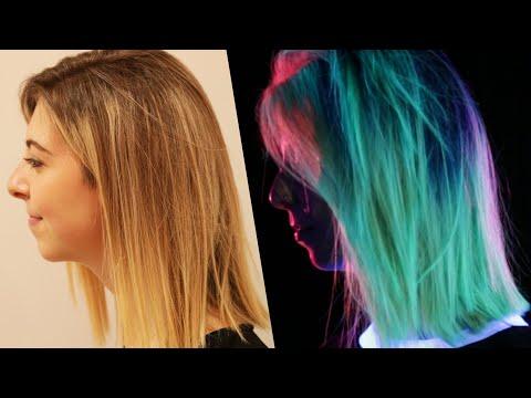 Women Get Glow-In-The-Dark Hair