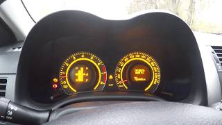 Ошибка Тойота королла 2009 'Проверь двигатель'