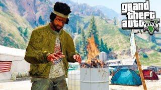 #Grand Theft Auto V ((ОНЛАЙН)) Бомж в ГЕТТО! 1 РАЗ В ИГРЕ