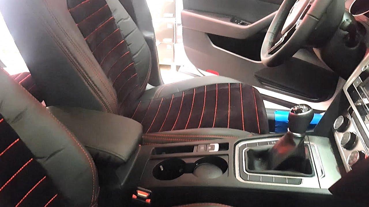 Volkswagen Passat B8 Ozel Dikim Koltuk Kilifi Uygulamamiz Youtube
