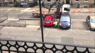 [HD] Car damaged when removed by City of Edinburgh Council!