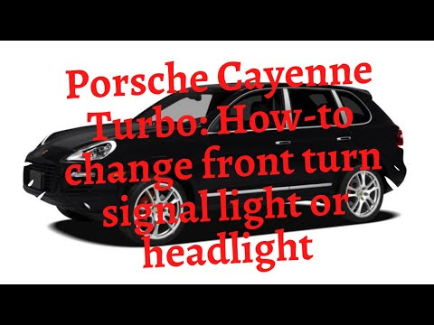 diy porsche cayenne turbo how to change front turn. Black Bedroom Furniture Sets. Home Design Ideas
