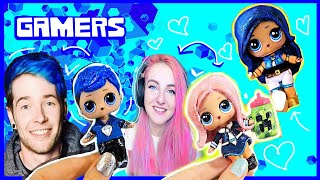GAMERS LOL Surprise Dolls Custom DIY - DANTDM, ITSFunneh, And LDShadowLady