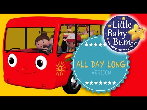 Wheels On The Bus UK   Part 2   All Day Long Version   Nursery Rhymes   From LittleBabyBum!