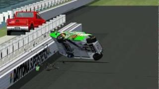 NR2003 Danica Patrick Massive Crash 2012 Reenactment