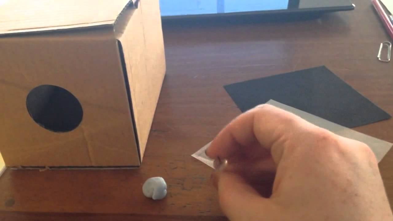Making a Pin Hole Camera in Preparation for a Solar Eclipse