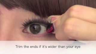 Cosmake: Накладные ресницы видео урок
