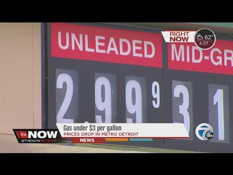 Gas in metro Detroit under $3 per gallon