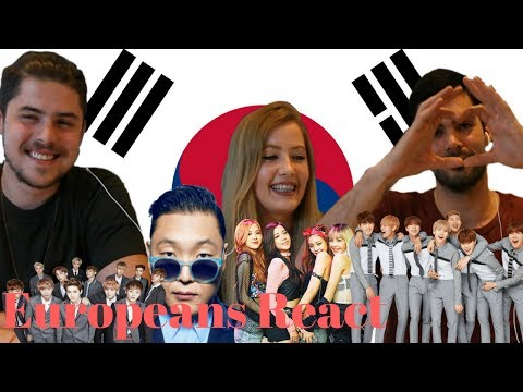 Europeans React to K POP #4 ft. PSY, BlackPink, EXO, BTS / 유