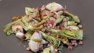Receta fácil de alcachofas con jamón