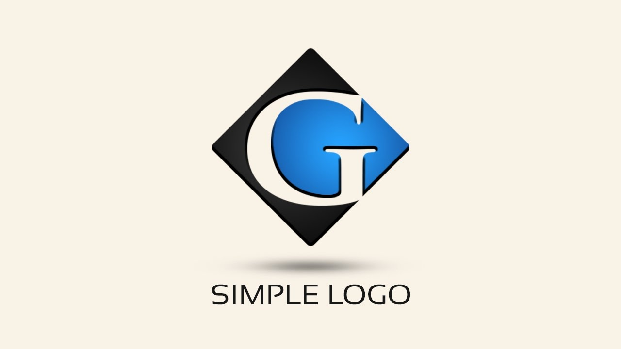 Simple logo design with photoshop letter g youtube for Easy way to create a logo