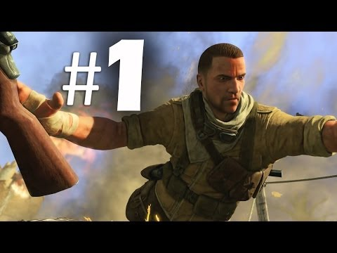 Sniper Elite 3 Part 1 - Siege of Tobruk - Gameplay Walkthrough PS4