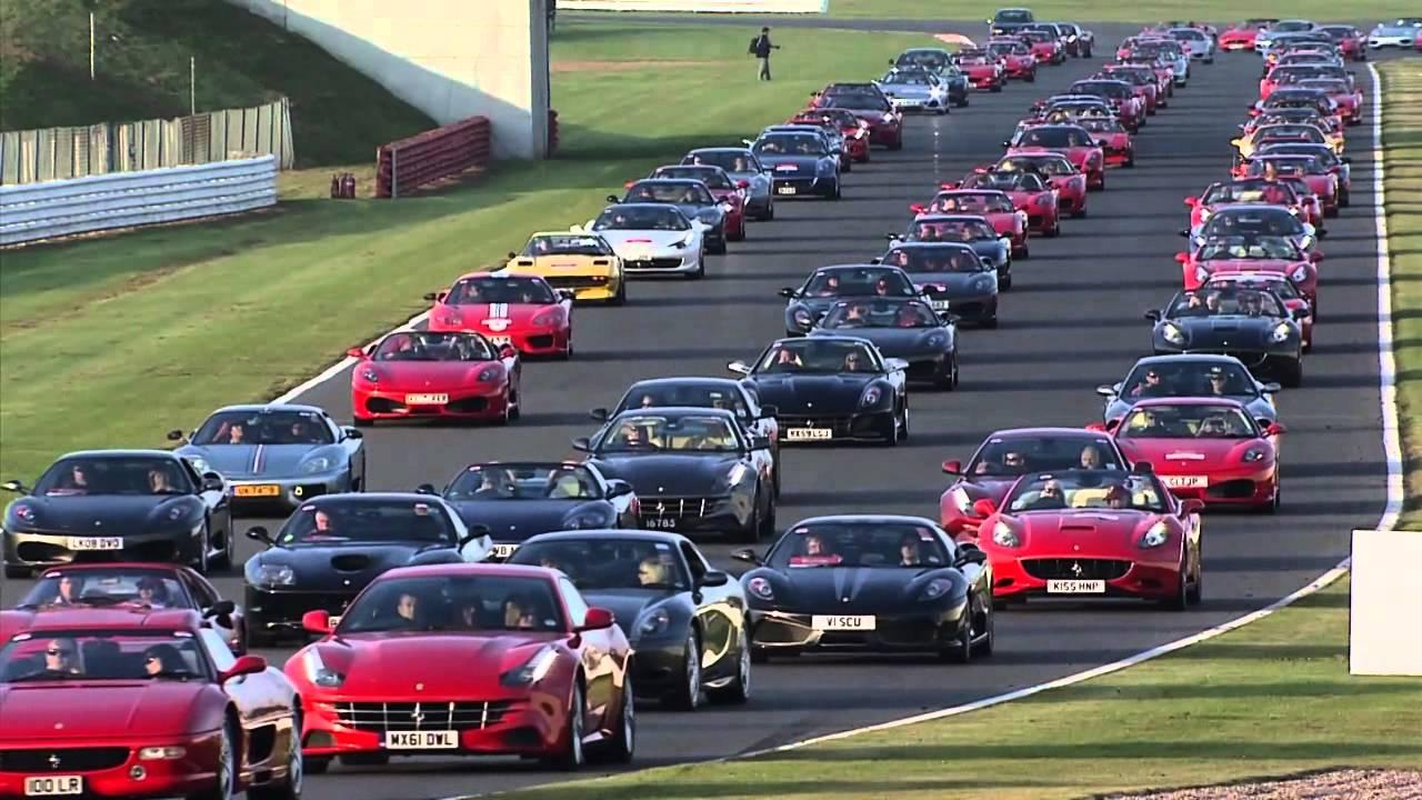 Largest Parade Of Ferrari Cars World Record Youtube