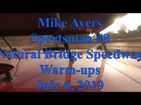 Mike Ayers warming up at Natural Bridge Speedway - 7/6/19