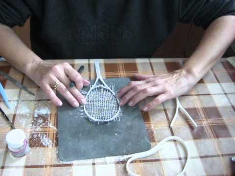 How To Make A Tennis Racket For The Decoration Of Cake Part 7 Youtube