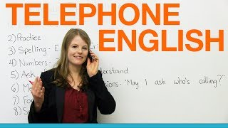 Telephone English: Emma's top tips(http://www.engvid.com/ Calling someone soon? Do you feel nervous when you speak on the telephone? Many English learners feel uncomfortable when they ..., 2014-02-11T02:54:28.000Z)