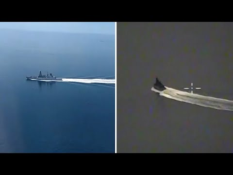 Russia releases video allegedly showing HMS Defender from Russian aircraft