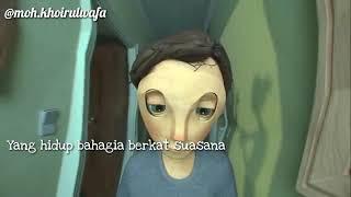 Gambar cover Status wa animasi sedih nya broken home 😭😭