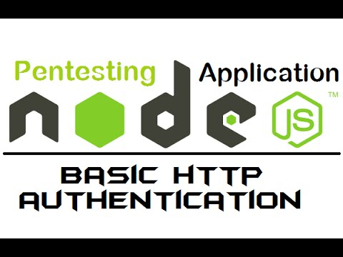 5. node web server - http basic authentication