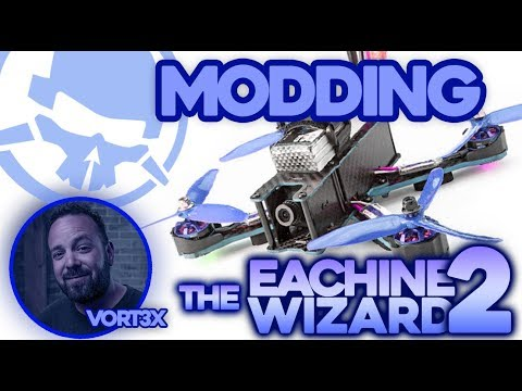 MODDING the Eachine Wizard PART 2! - Kwad Mods