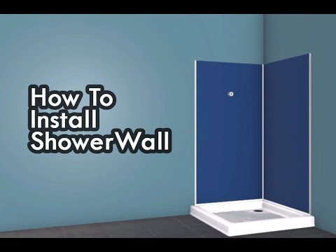 How to install Shower Wall in a shower - YouTube