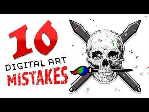 10 WORST Digital Art MISTAKES 💀 (Tips for Digital Art)