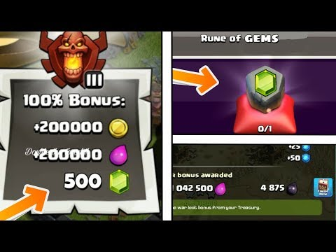 RUNE OF GEMS | GEMS IN LOOT BONUS | BOOK IN WAR LOOT | THINGS  THAT NEVER COME IN FUTURE IN COC