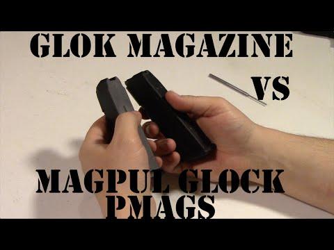 Compare Glock Magazine To Magpul Glock GL9 PMAG Magazine