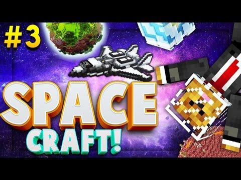 Minecraft SPACE CRAFT - BLOOD MOON ATTACK - Modded Survival #3