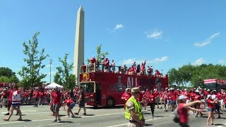 US capital turns red for ice hockey parade