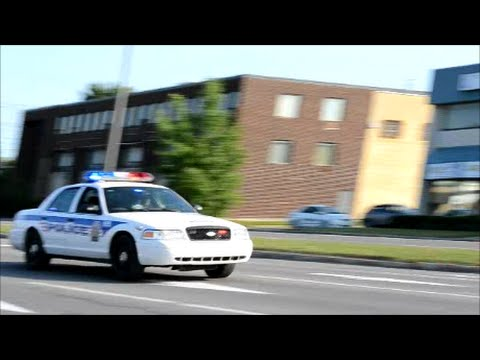 LAVAL QC CROWN VIC POLICE RESPONDING FAST !