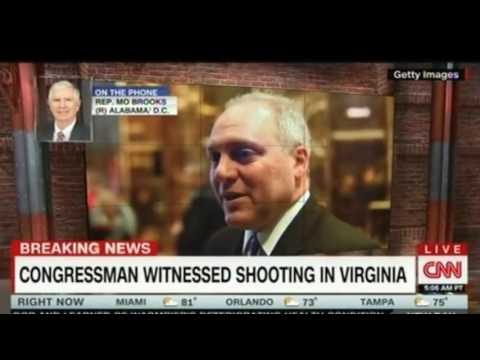 Eyewitness Rep Mo Brooks Majority Whip Steve Scalise Shot in Virginia
